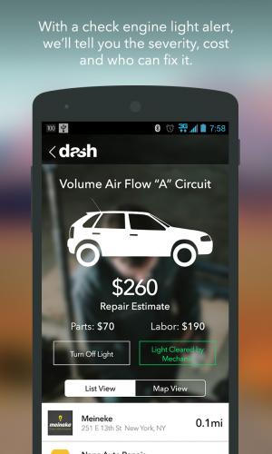 Dash Drive Smart app, courtesy of Dash