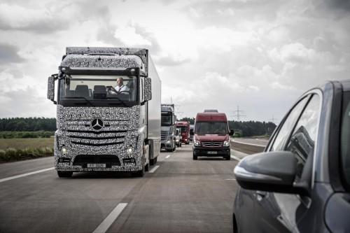 [Prototype of Daimler's self-driving-truck]