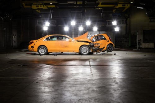 [Smart Fortwo test crash with Mercedes S-Class]