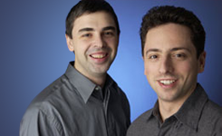 [Google founders Larry Page and Sergey Brin]