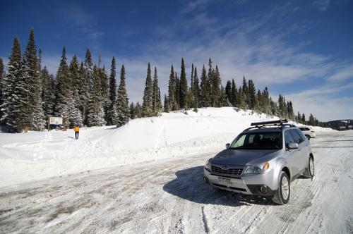 """Snowy roads"" in Colorado"