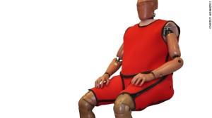 Obese crash test dummy, image courtesy Humanetics