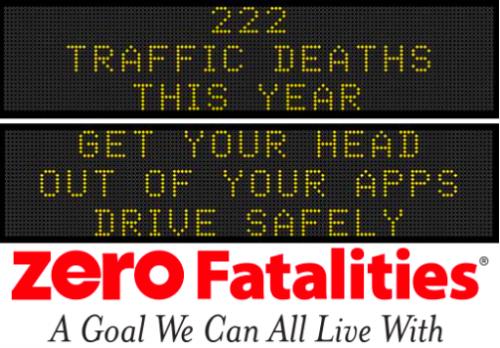 Zero Fatalities Iowa's digital bulletin board