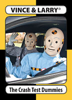 Vince and Larry trading card, courtesy Michigan Office of Highway Safety Planning