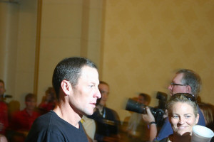 Lance Armstrong at a 2008 press conference