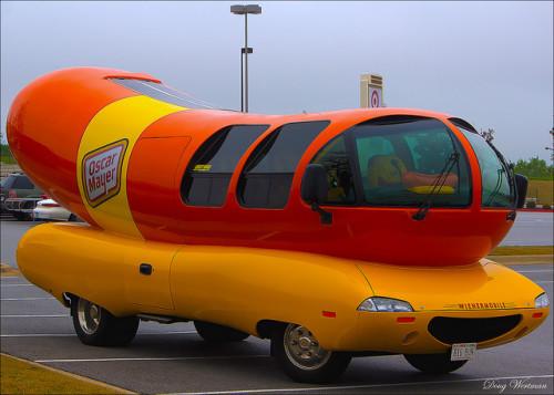 An Oscar Mayer Wienermobile