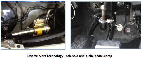 Reverse Alert System's braking technology
