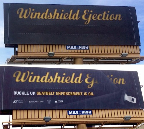 CDOT seat belt billboard