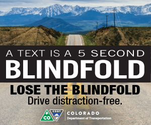 Colorado Department of Transportation poster to prevent texting and driving