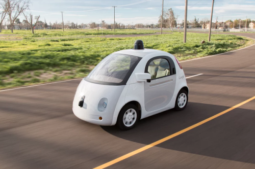 Google's prototype self driving car; image courtesy of Google