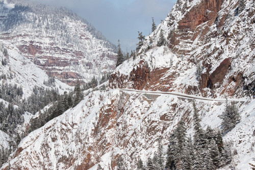 "Snow-covered ""Million Dollar Highway"""