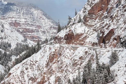 "Snow-covered ""Million Dollar Highway"""
