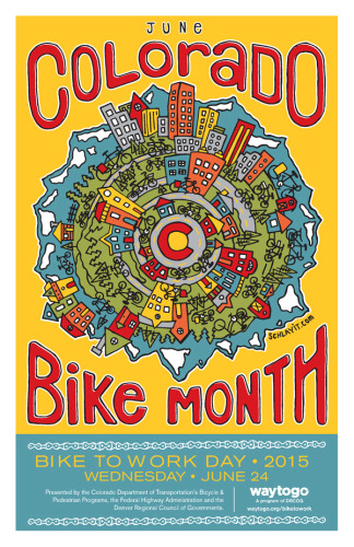 Colorado Bike to Work Day poster, courtesy Denver Regional Council of Governments