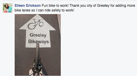 Greeley Facebook page comment