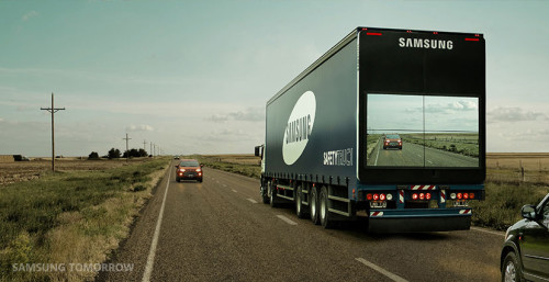 Samsung Safety Truck. Image courtesy Samsung Tomorrow