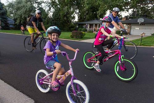 Family bike nights, Greeley, Colorado, photo courtesy Greeley government website