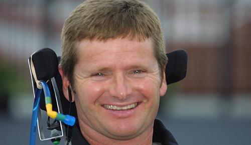 Quadriplegic driver Sam Schmidt.