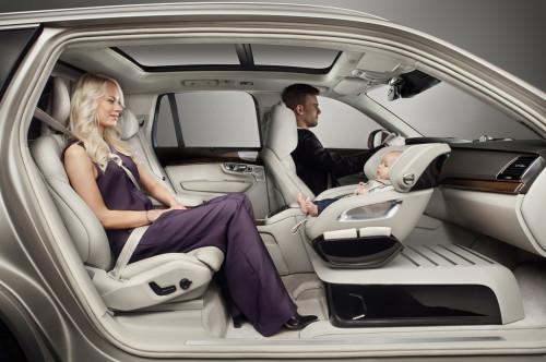 Volvo child car seat concept. Image courtesy Volvo