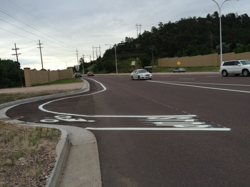 Austin Bluffs bike lanes