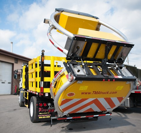 A Royal attenuator highway construction truck