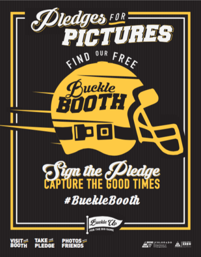 Buckle Booth campaign poster, courtesy CDOT