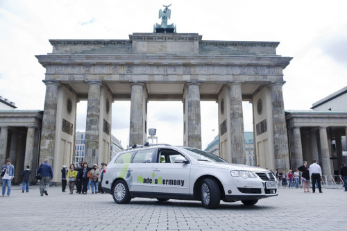 The AutoNOMOS self-driving car had completed other drives in Europe.