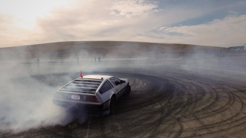 The self-driving DeLorean can test advance maneuvers.