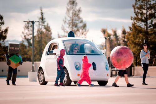 Self-driving cars Halloween.