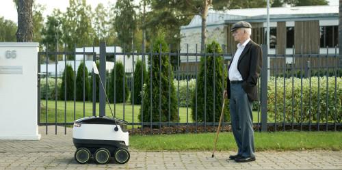 Semi-autonomous robot can deliver 20-pound payload.