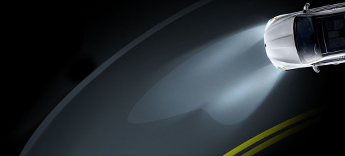 Adaptive headlights for driving safety.
