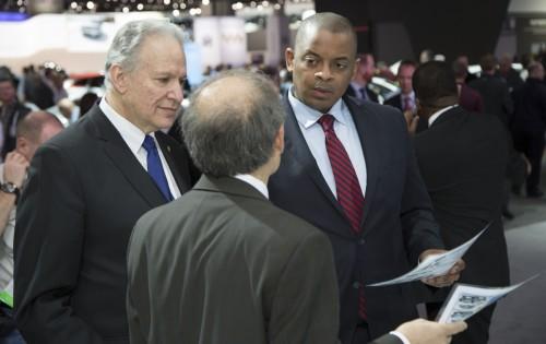 Secretary Foxx at Detroit Auto Show.