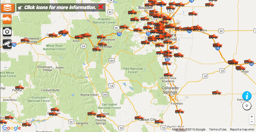 CDOT snow plow AVL map