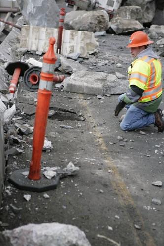 I-70 rockslide damage