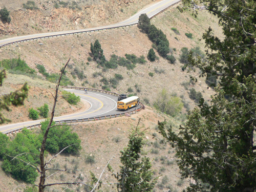 Colorado school bus crashes