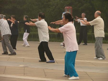 balance-improving exercise