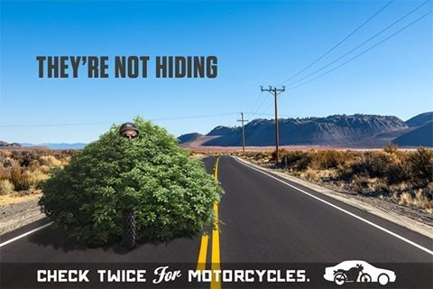 Image from CDOT's new campaign asking drivers to look out for motorcyclists