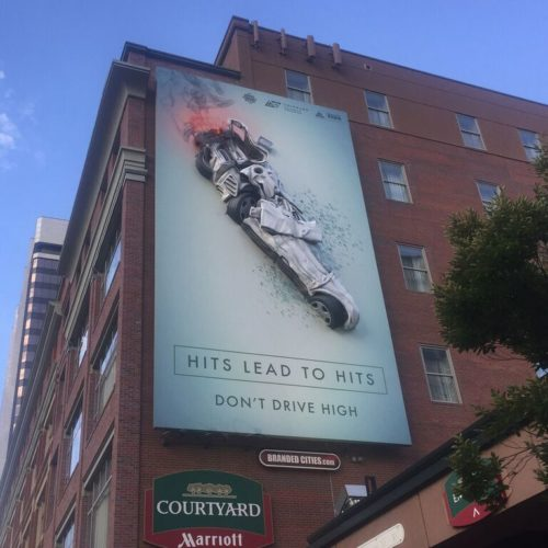 driving high billboard