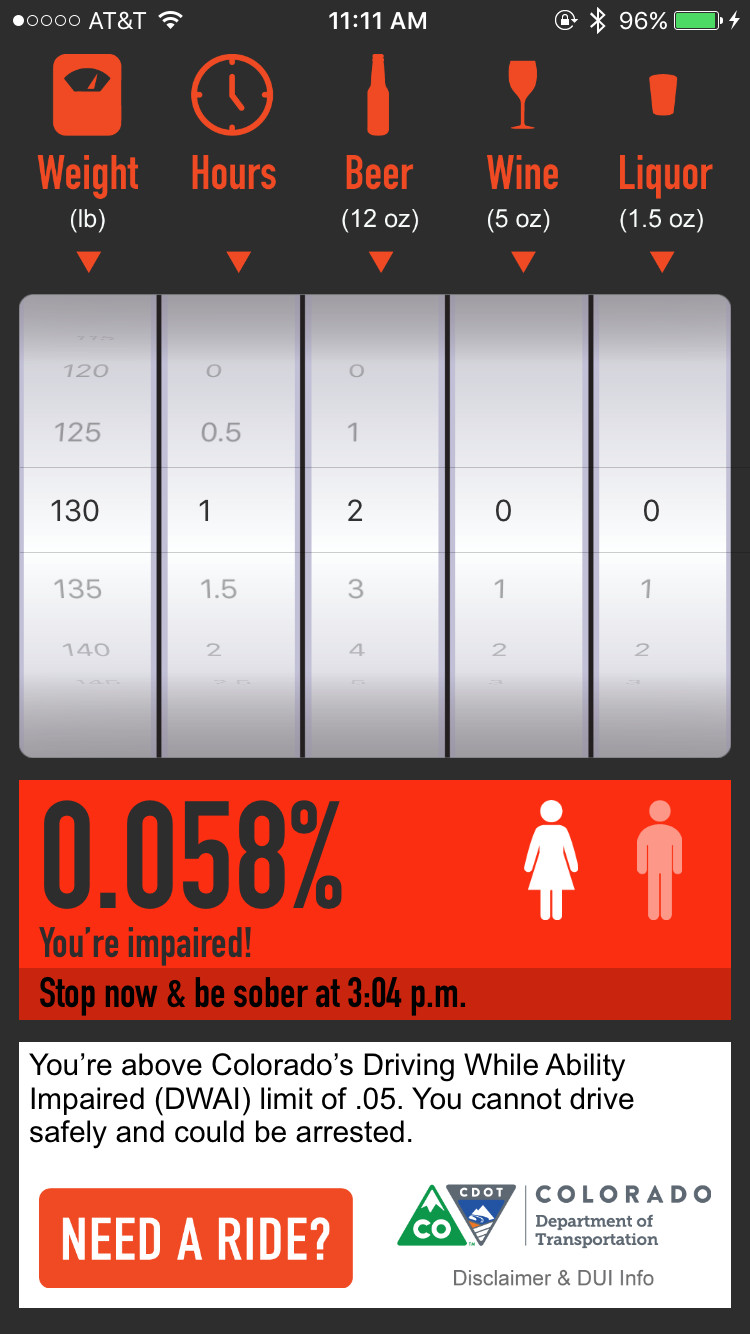 BAC calculator app