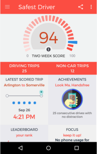 safest driver app
