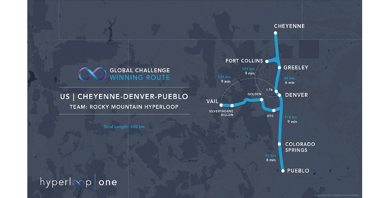 Hyperloop One Develops Construction Plans for 10 Routes, Including One in Colorado